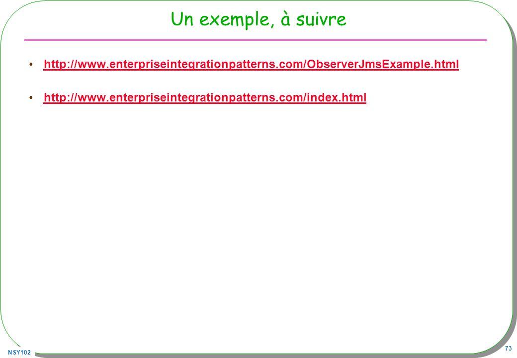 Un exemple, à suivre http://www.enterpriseintegrationpatterns.com/ObserverJmsExample.html.