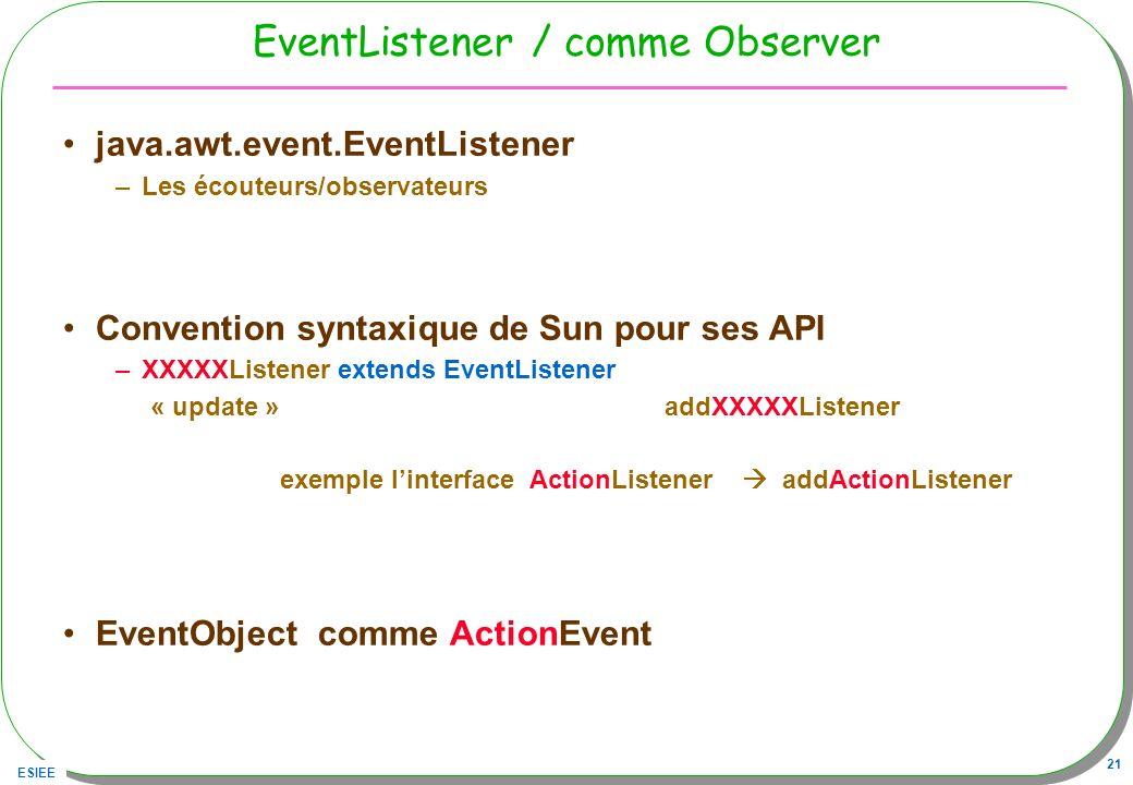 EventListener / comme Observer