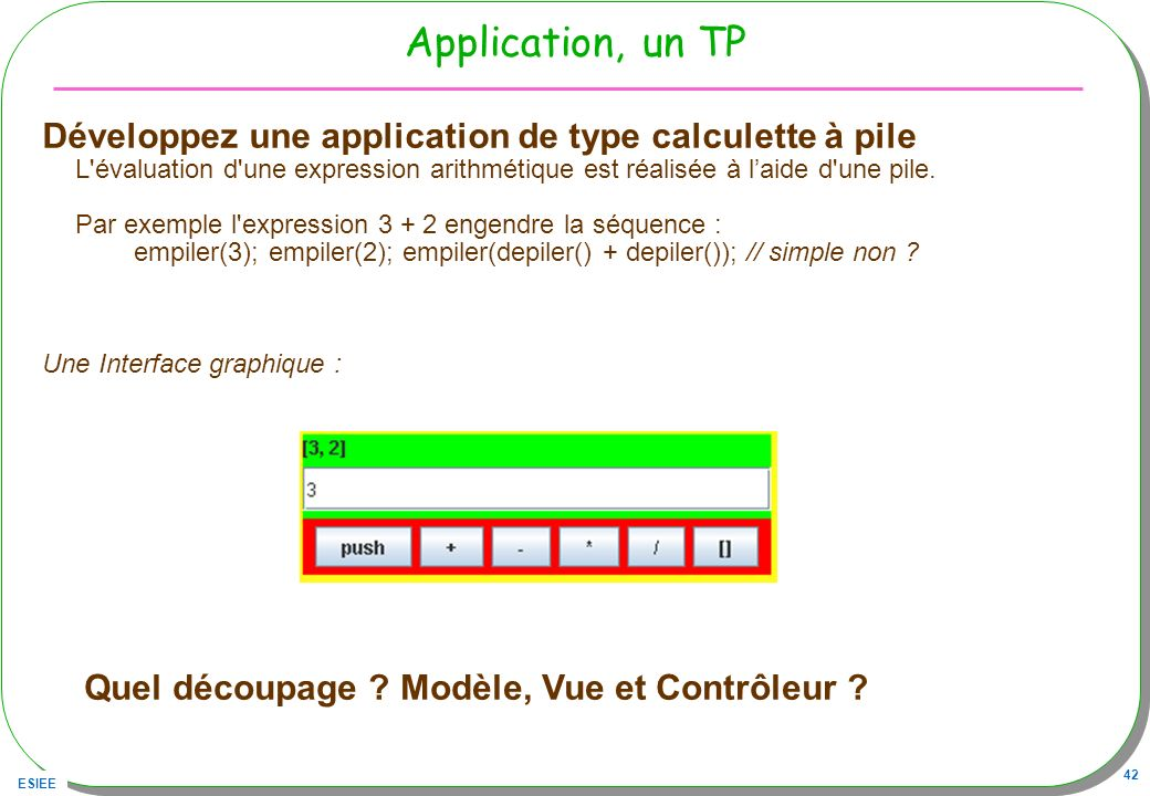 Application, un TP