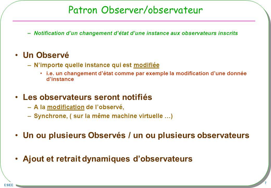 Patron Observer/observateur