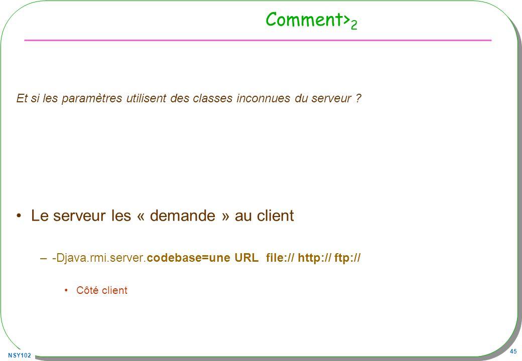 Comment>2 Le serveur les « demande » au client
