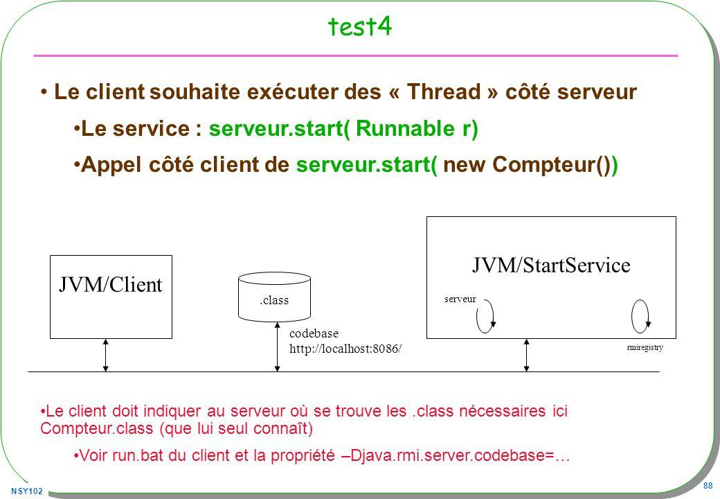 test4 Le client souhaite exécuter des « Thread » côté serveur