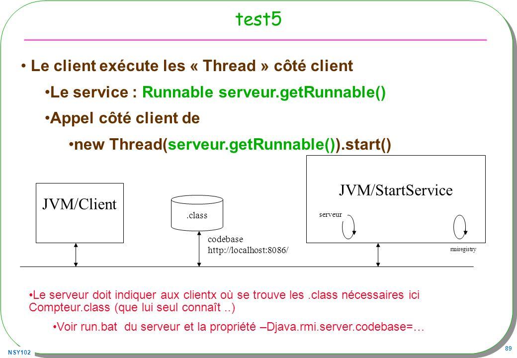 test5 Le client exécute les « Thread » côté client