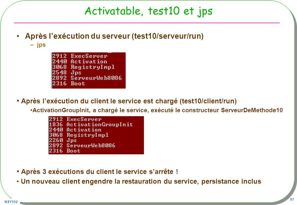 Activatable, test10 et jps