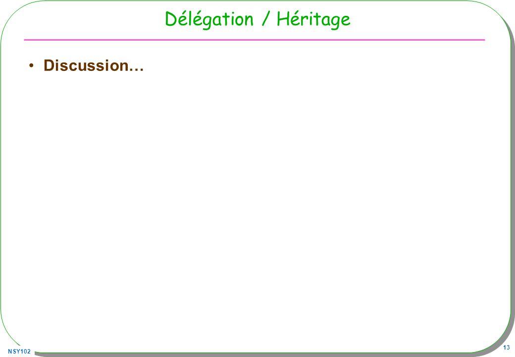 Délégation / Héritage Discussion…