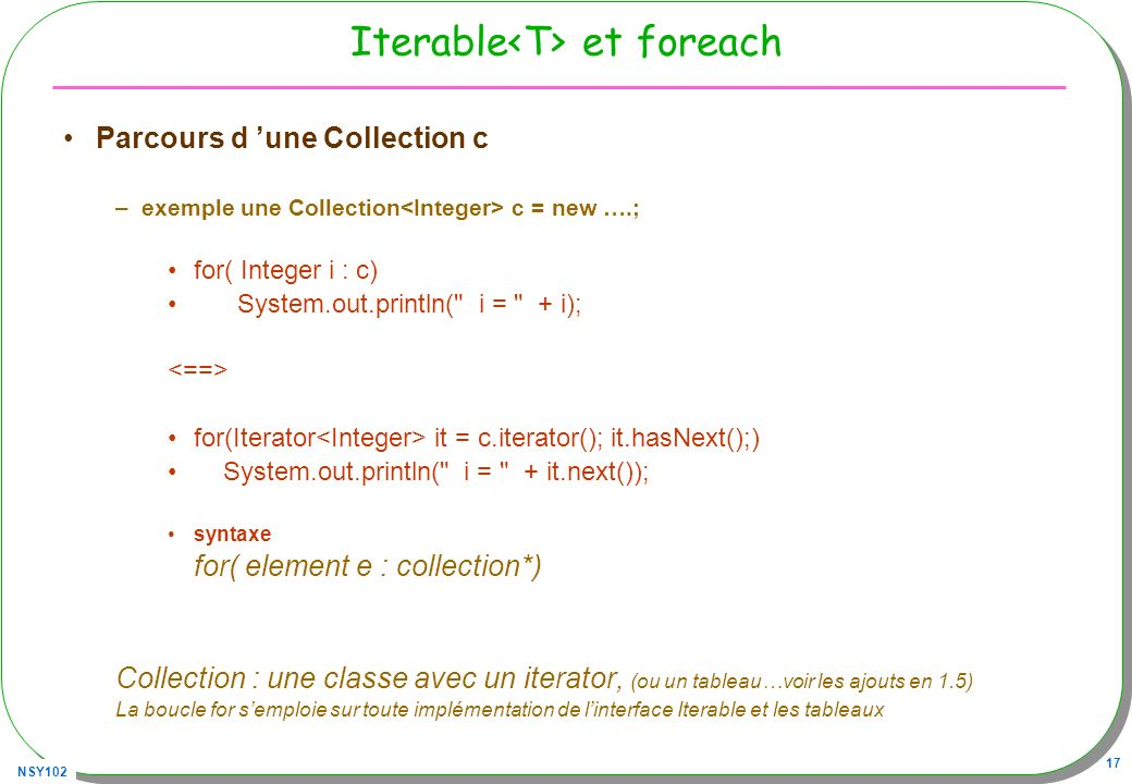 Iterable<T> et foreach