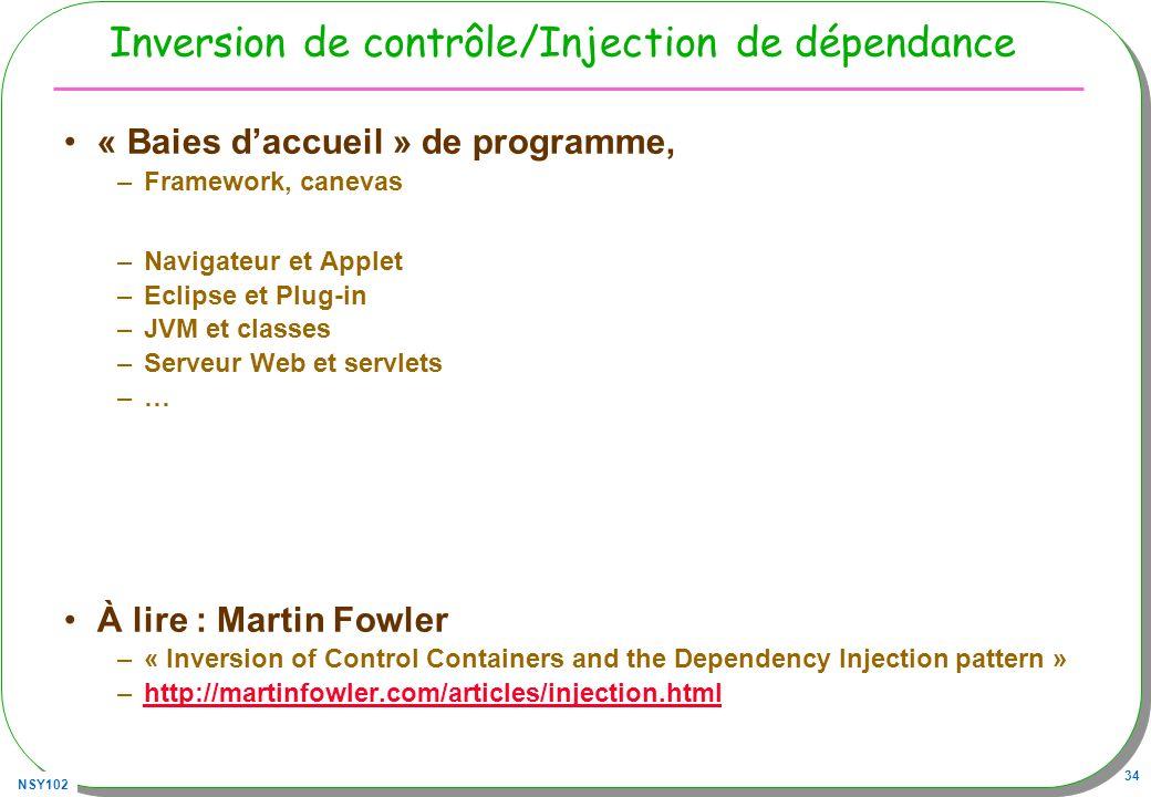 Inversion de contrôle/Injection de dépendance