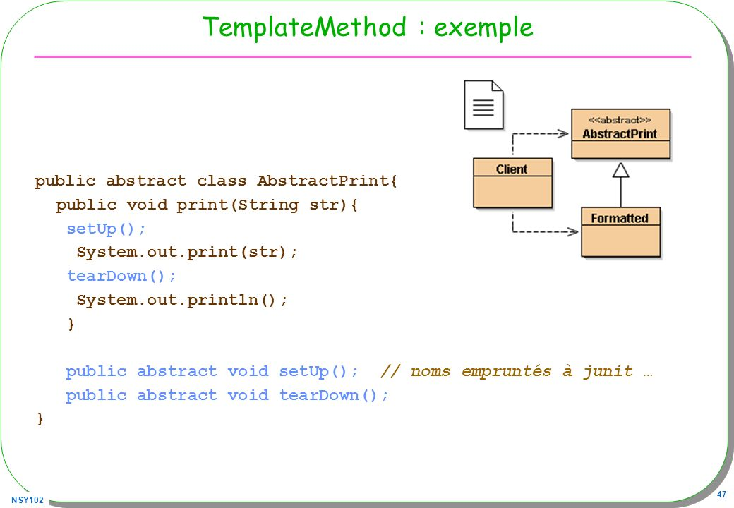 TemplateMethod : exemple