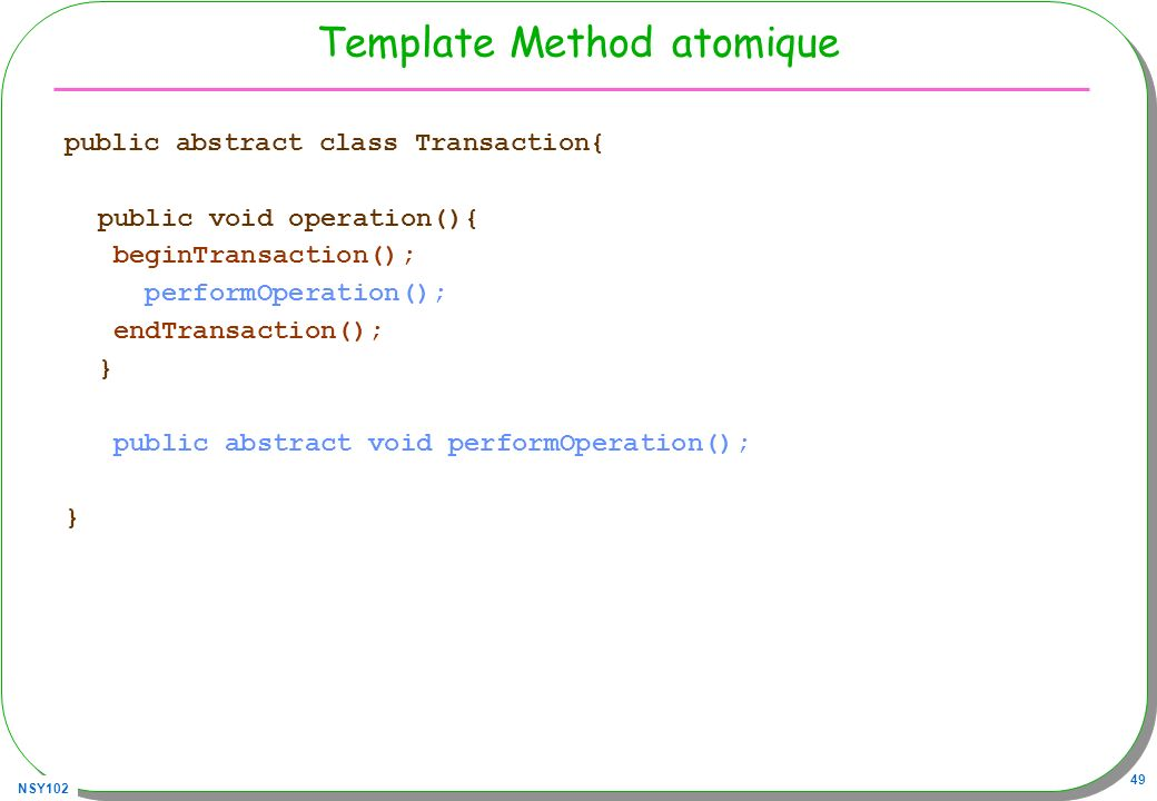 Template Method atomique