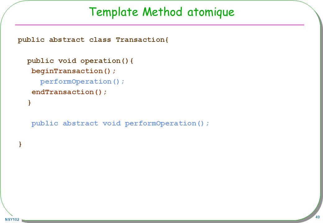 Template Method atomique