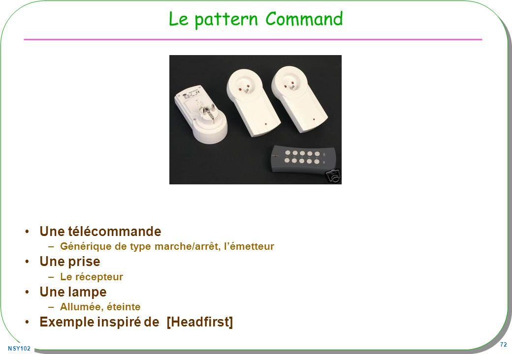 Le pattern Command Une télécommande Une prise Une lampe