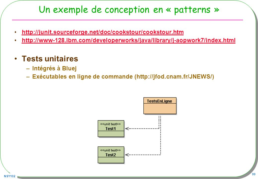 Un exemple de conception en « patterns »