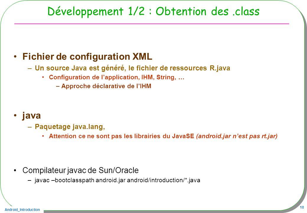 Développement 1/2 : Obtention des .class