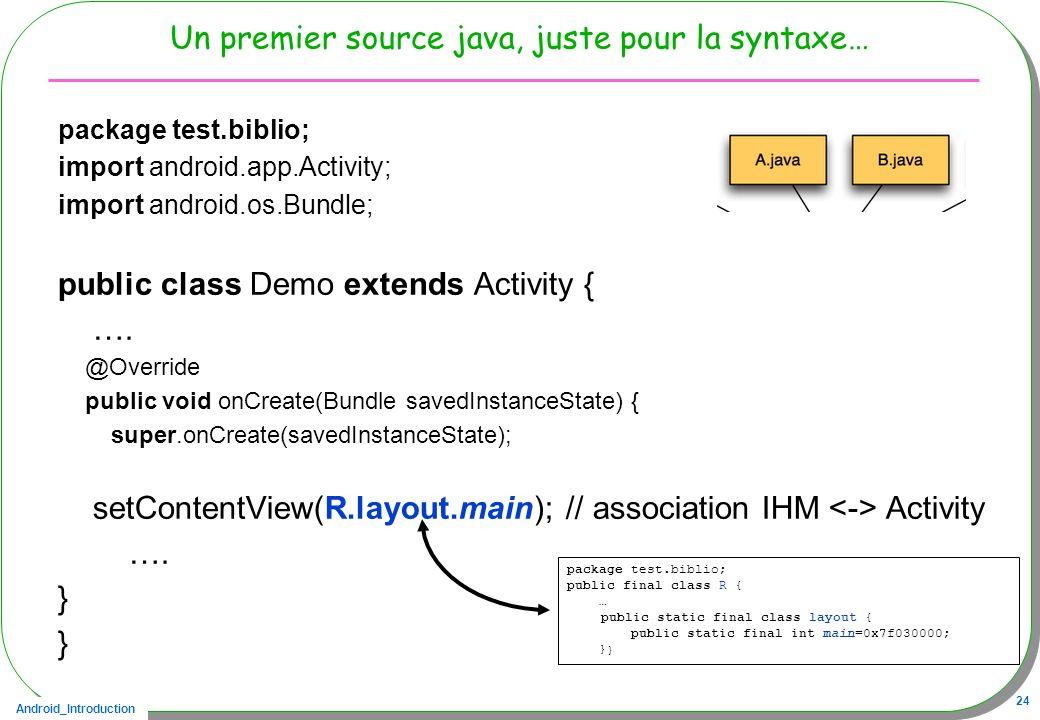 Un premier source java, juste pour la syntaxe…