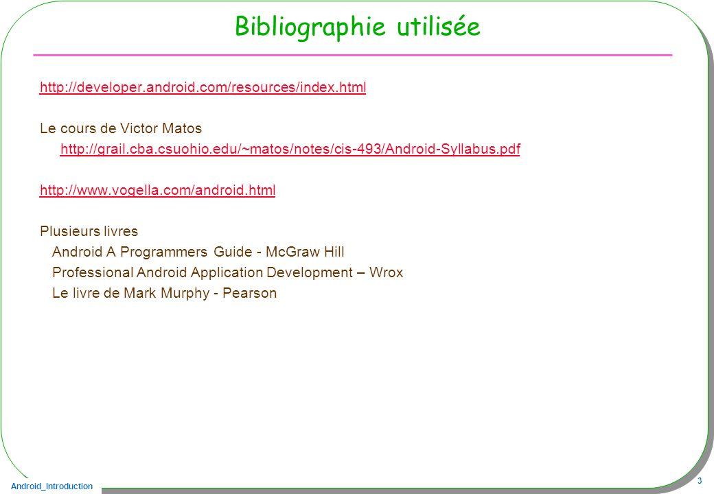 Bibliographie utilisée