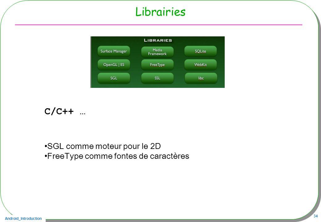 Librairies C/C++ … SGL comme moteur pour le 2D
