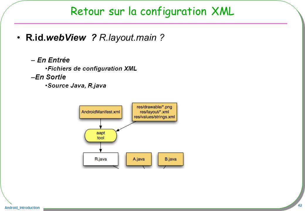 Retour sur la configuration XML