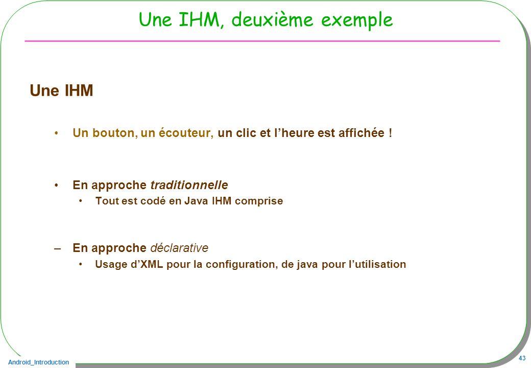 Une IHM, deuxième exemple