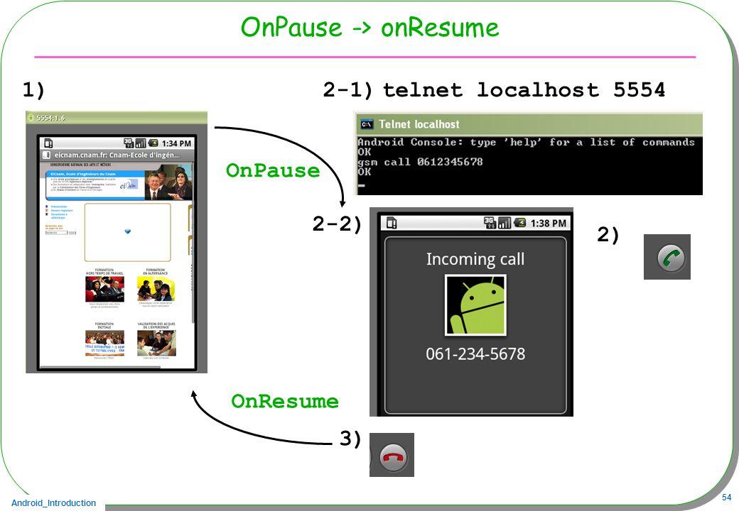 OnPause -> onResume