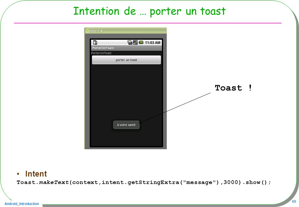Intention de … porter un toast
