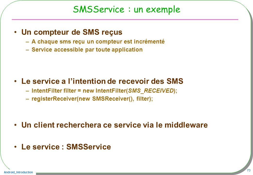 SMSService : un exemple