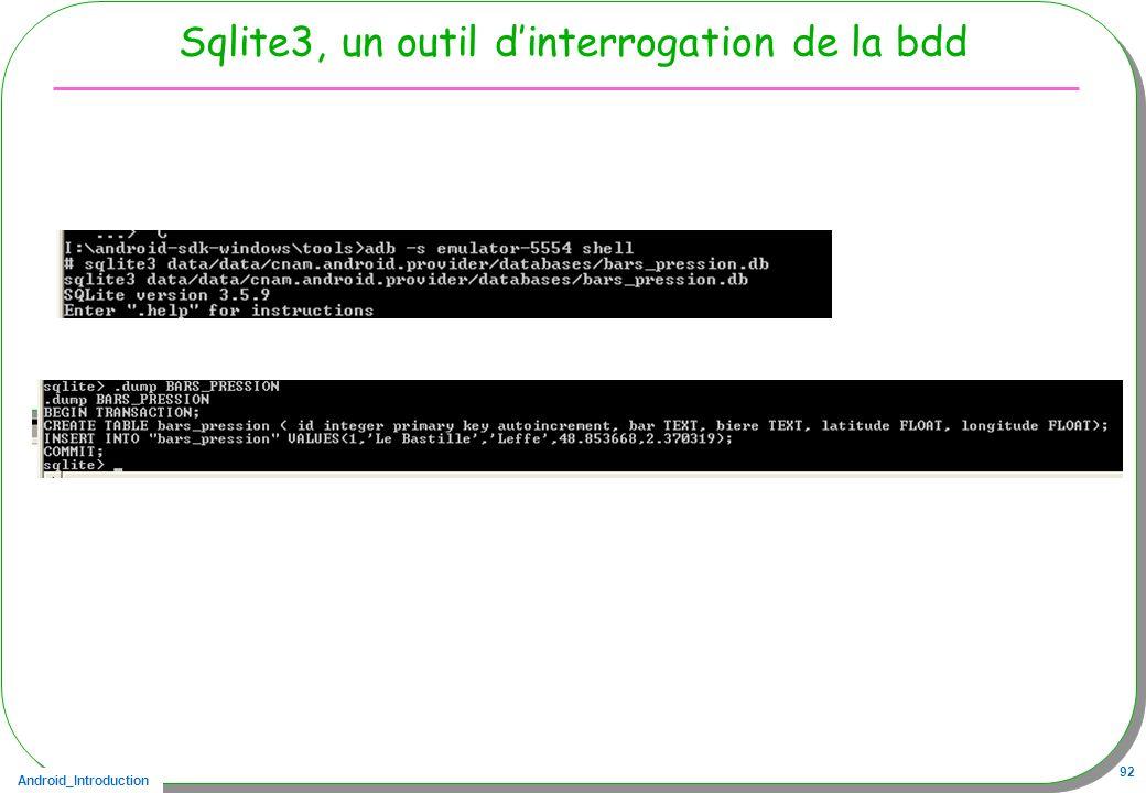 Sqlite3, un outil d'interrogation de la bdd