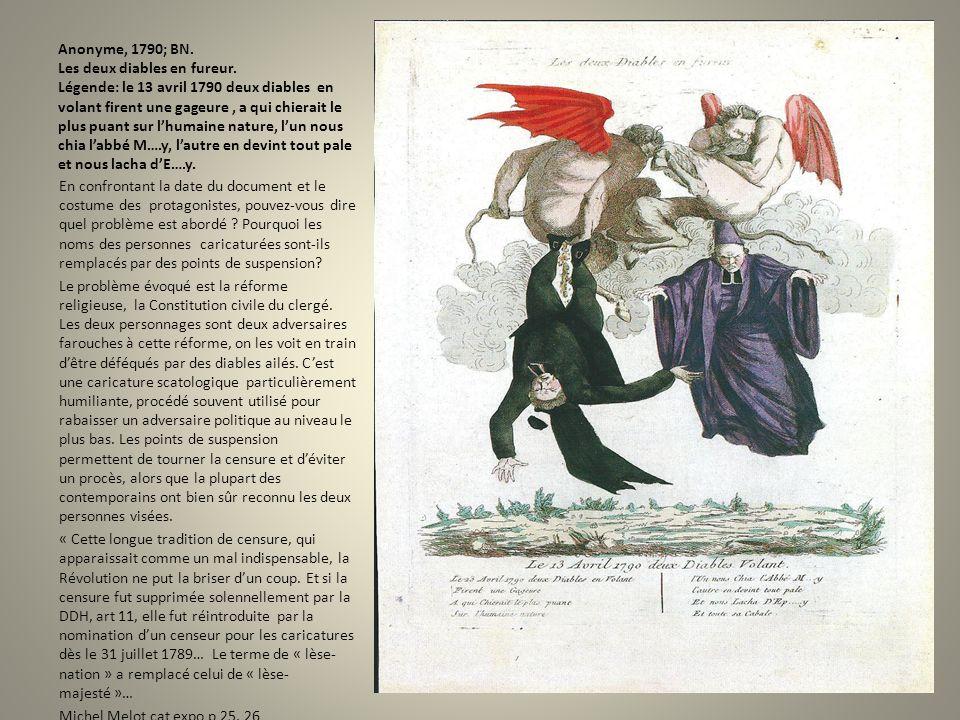 Anonyme, 1790; BN. Les deux diables en fureur