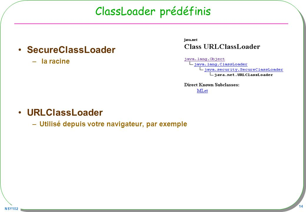 ClassLoader prédéfinis