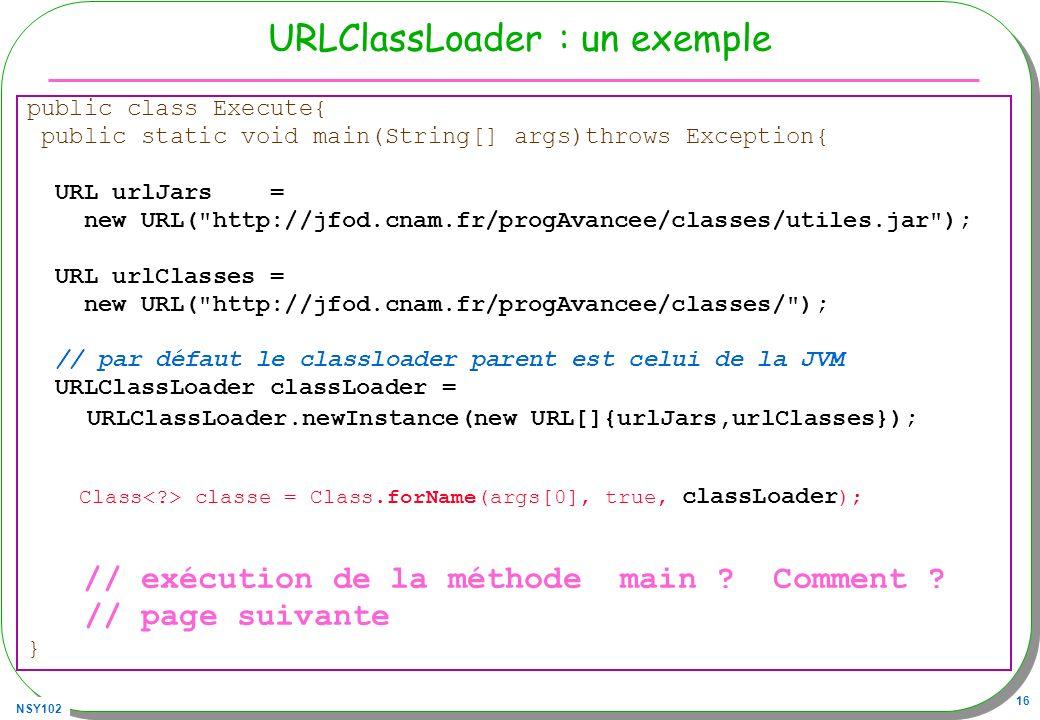 URLClassLoader : un exemple