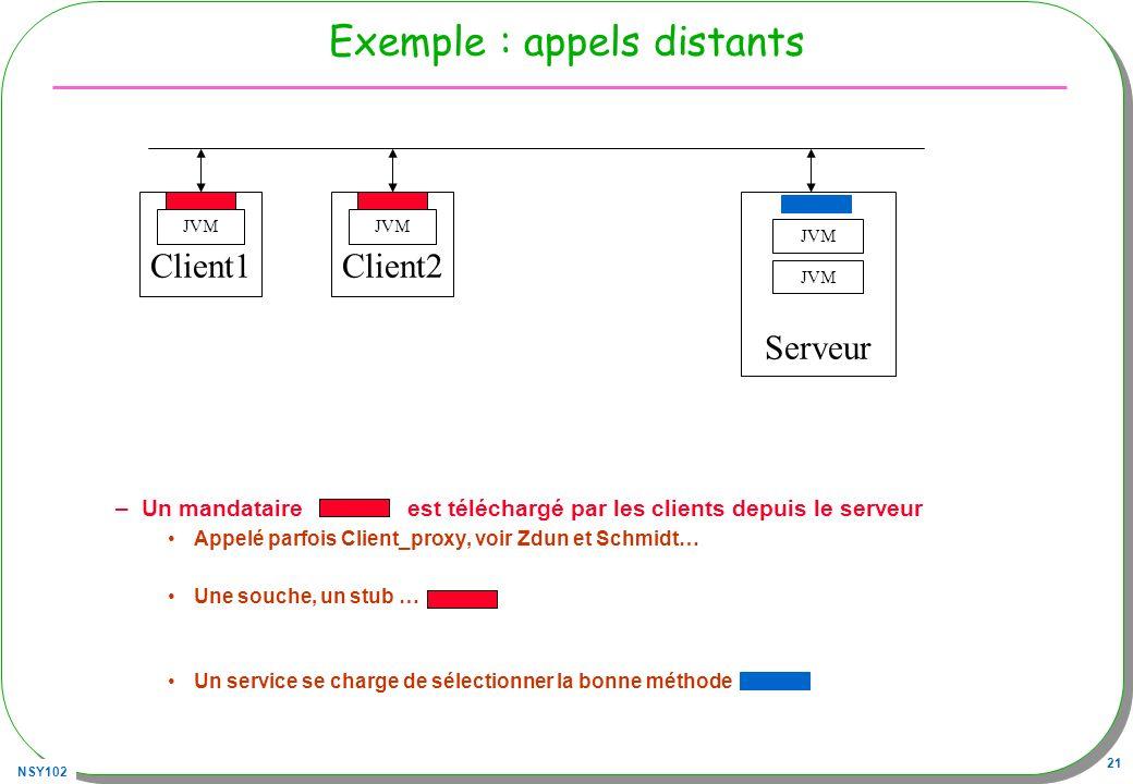 Exemple : appels distants