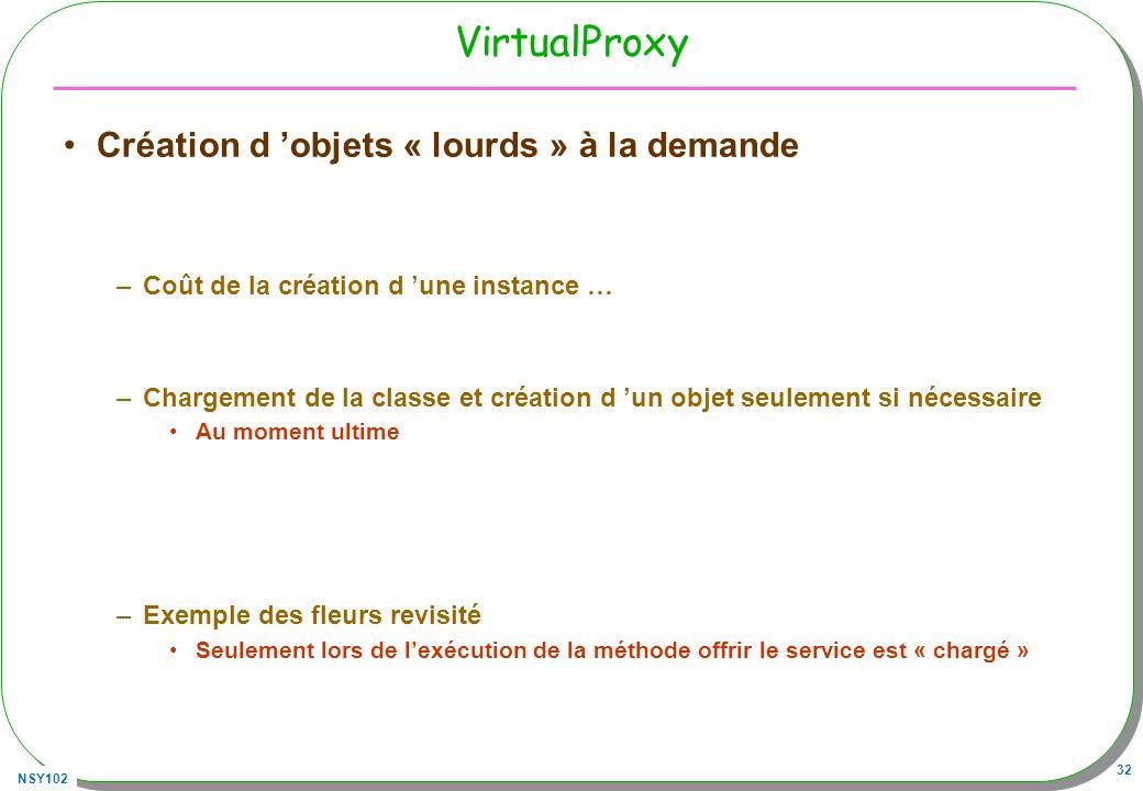 VirtualProxy Création d 'objets « lourds » à la demande