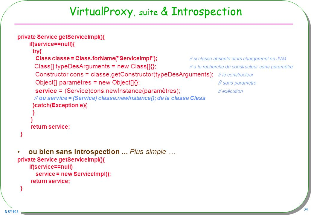 VirtualProxy, suite & Introspection