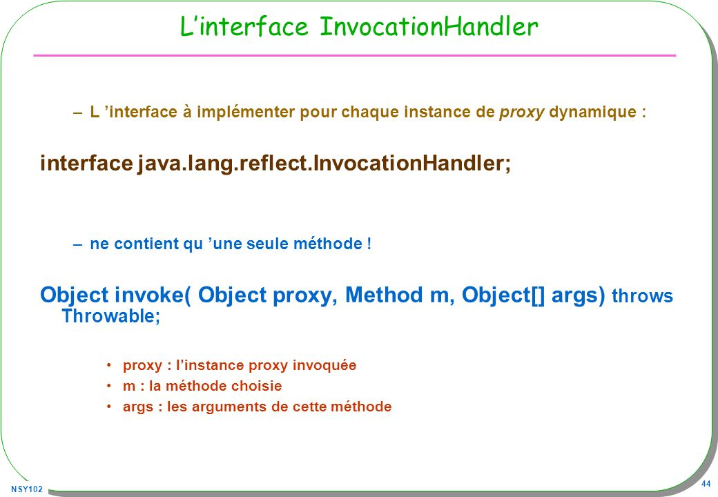 L'interface InvocationHandler