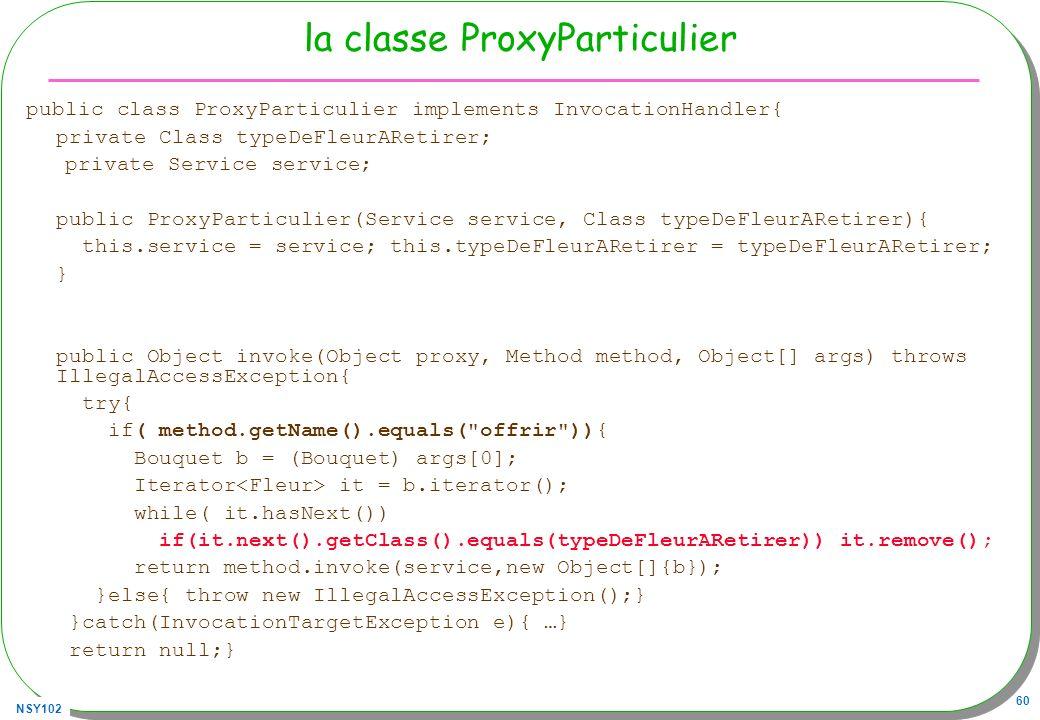 la classe ProxyParticulier