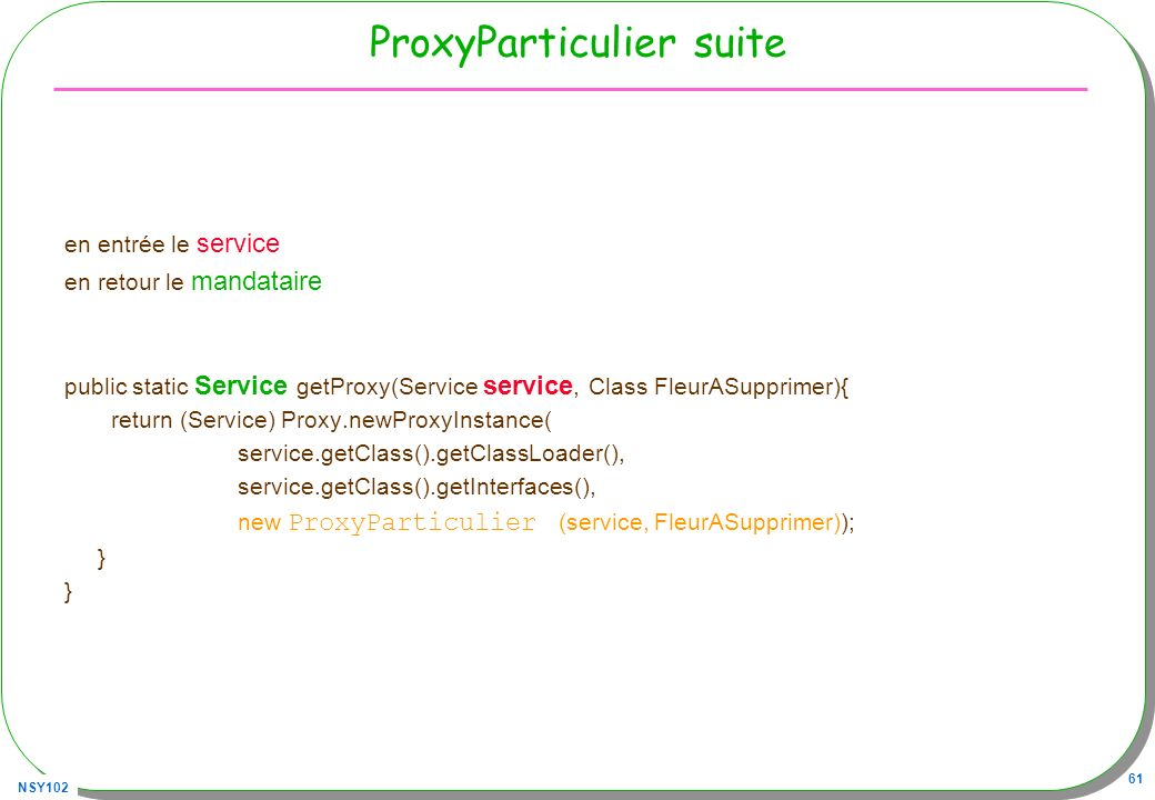 ProxyParticulier suite