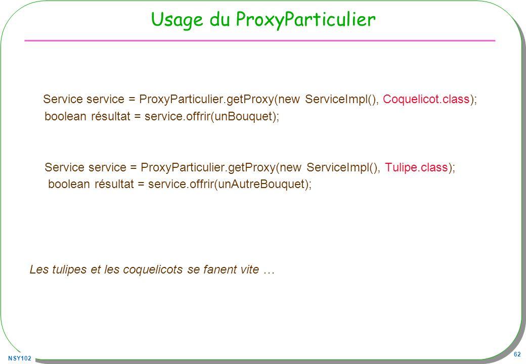 Usage du ProxyParticulier