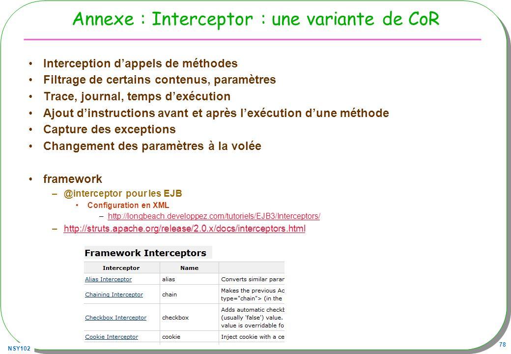 Annexe : Interceptor : une variante de CoR
