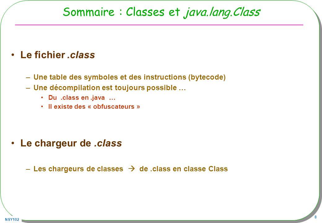 Sommaire : Classes et java.lang.Class