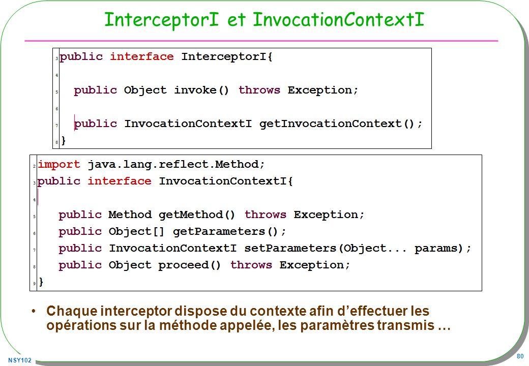 InterceptorI et InvocationContextI