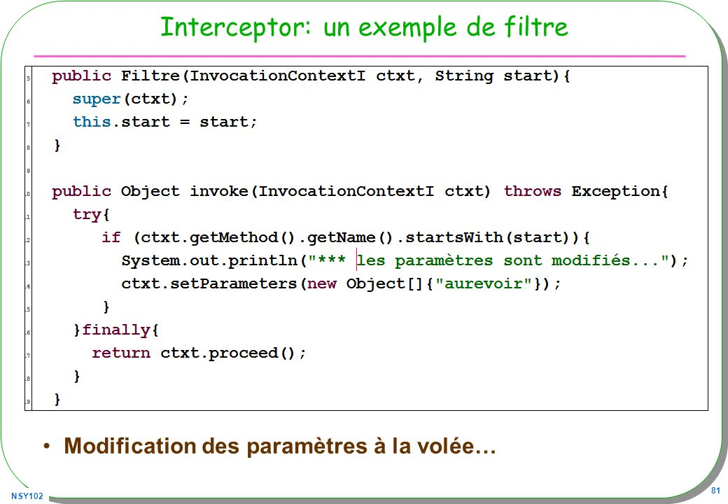 Interceptor: un exemple de filtre