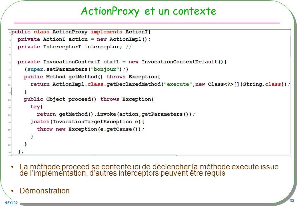 ActionProxy et un contexte