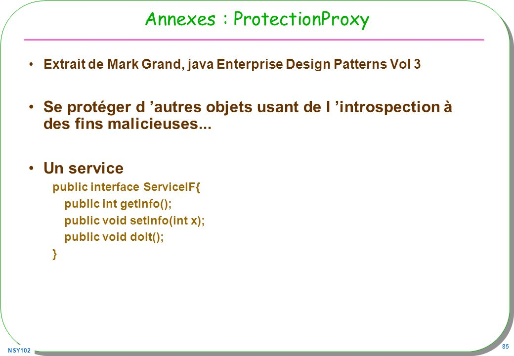 Annexes : ProtectionProxy