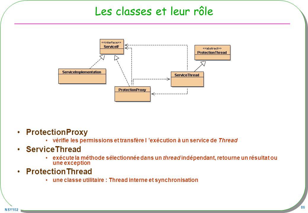 Les classes et leur rôle