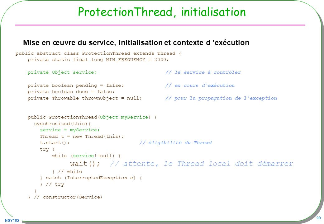 ProtectionThread, initialisation