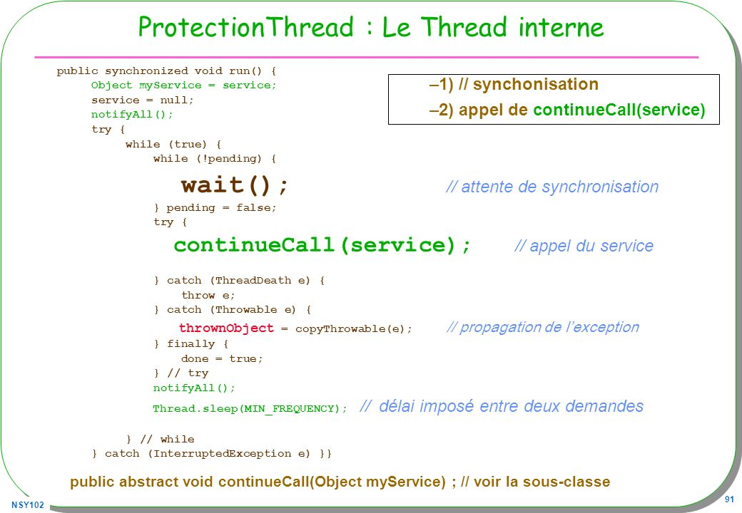 ProtectionThread : Le Thread interne