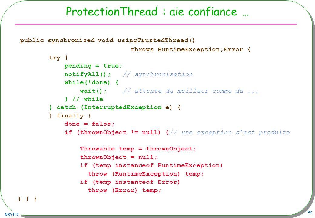 ProtectionThread : aie confiance …