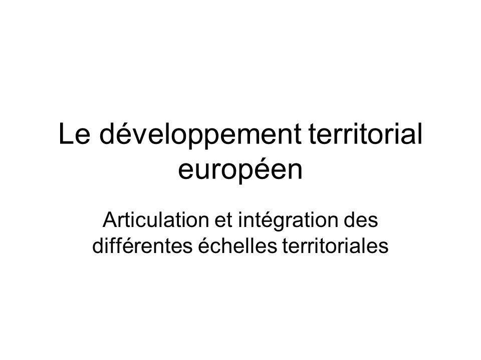 Le développement territorial européen