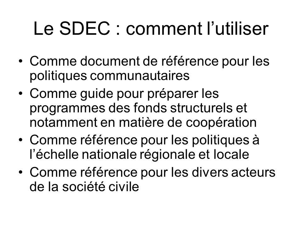 Le SDEC : comment l'utiliser