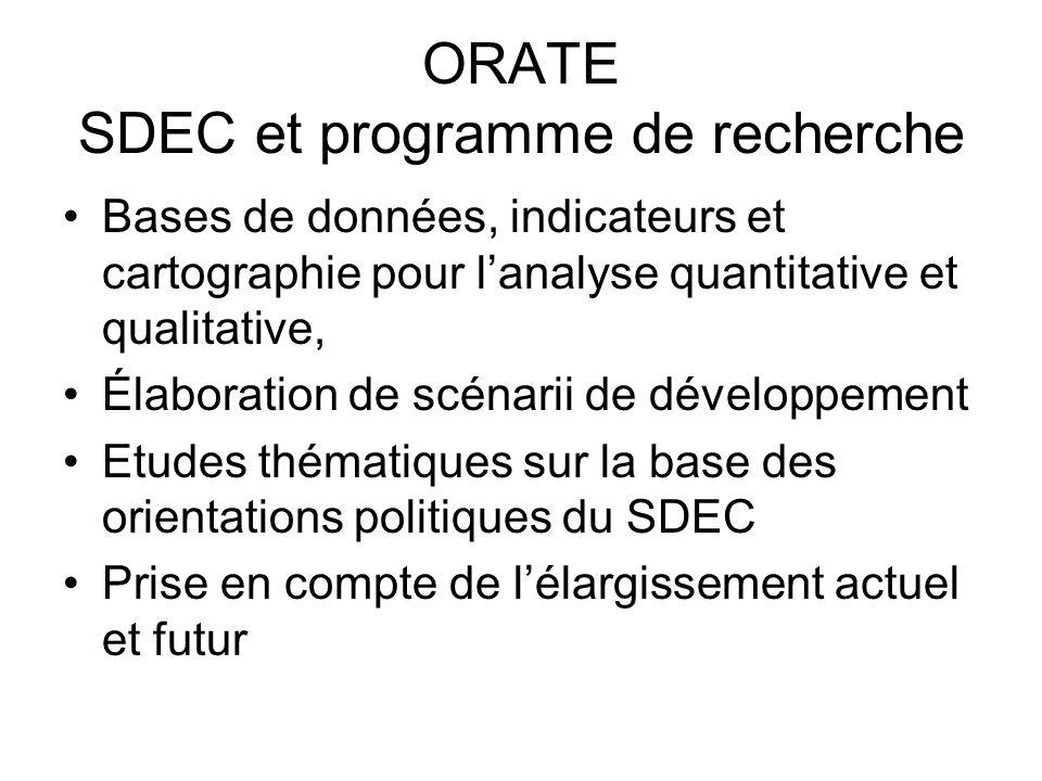 ORATE SDEC et programme de recherche