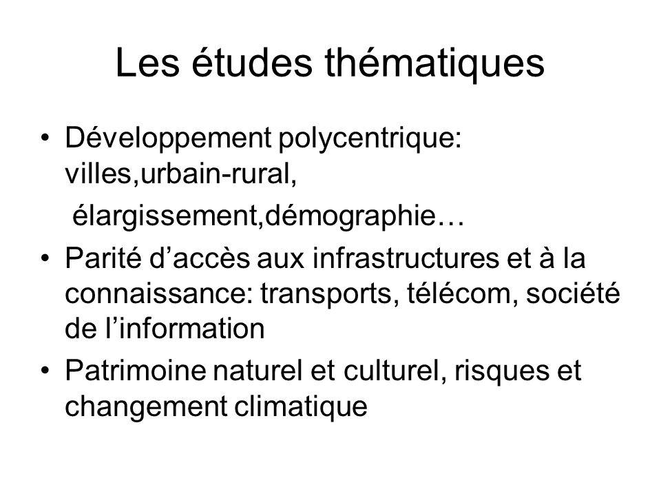 Les études thématiques